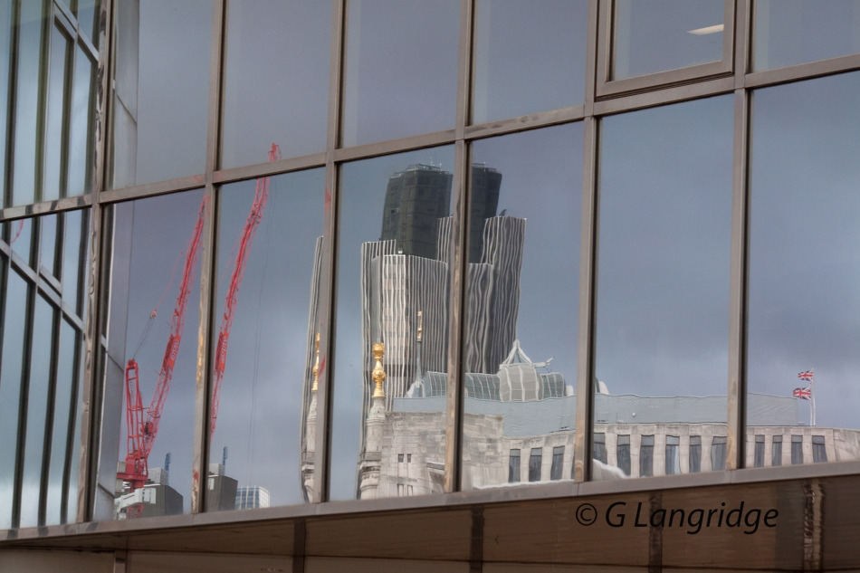 reflections in a window